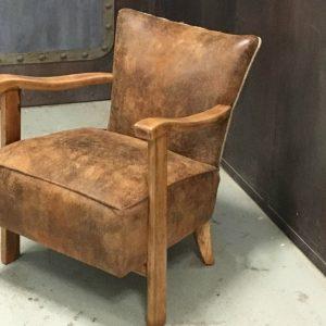 Le Fauteuil d'Ivoire | Fauteuil Rénové dans le style des années 50 Tissu de chez Casal et dos en sac à café