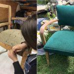 Rénovation de sièges - avant & après - Le Fauteuil d'Ivoire à Callas
